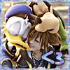 stealth_noodle: Sora, Donald, and Goofy sharing a big Kingdom Hearts hug. (kingdom hugs)