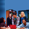 ext_407072: screengrab of Shirley, Annie, Abed, Britta, and Troy from the tv show Community gathered around to look at a red laptop (Default)