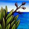 china_shop: New Zealand painting of flax (NZ flax)