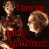 "darchildre: dr rotwang and robot maria.  text:  ""I love my robot girlfriend"" (robot girlfriend)"