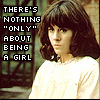 "darchildre: sarah jane, looking determine.  text:  ""there's nothing 'only' about being a girl"" (nothing ""only"" about being a girl)"