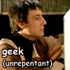 "darchildre: avon, doing techy things.  text:  ""geek (unrepentant)"" (unrepentant geek)"