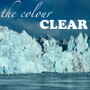 thecolourclear: my username over an iceberg  (-thecolourclear)