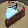 arduinna: slice of a Stargate cake, showing the Earth glyph (starcake)