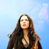 ninamazing: Ninja!Kahlan from Legend of the Seeker, over a sky blue background. (ninja kahlan)