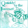 ticktocktober: (To the internet!)