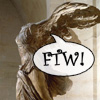 "chagrined: Winged Victory saying ""FTW!"" (ftw)"