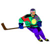 onyxlynx: Hockey player in recolored jersey, with stick. (Hockey)