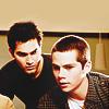 letsgofriday: Derek leaning over Stiles' shoulder (teen wolf: derek & stiles)
