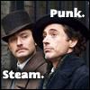 starlady: Holmes + Watson, steam + punk (steampunk heroes)