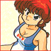 "cmshaw: Ranma 1/2: Ranma, swimsuit edition with ""BOY"" written across his breasts (Manly rugged heroism)"