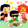 popetacular: tiny titans: Superboy, Robin (the fourth), Impulse and some doughnuts (tiny titans ;; Tim is longsuffering)