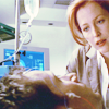wendelah1: Scully gazing at Mulder in a hospital bed (...in sickness and in health)