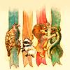 lenabee: from the teefury design (hogwarts mascots)