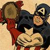 orm: Captain America with a tambourine  (TAMBOURINE: cap)