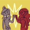 avatar_ladyfest: Korra and Asami fistbumping! by @duedlyfirearms on tumblr (my chain hits my chest)