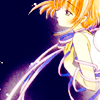 laceblade: Sakura Kinomoto of Cardcaptor Sakura, wrapped in ribbon, looking into blackness. (CCS: abyss)