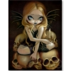 ivyclarice: A Candle in the Dark (fairy, goth, zazzle, blonde, skull, candle)