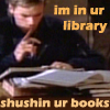 "readallthenewberys: MacGyver with finger to lips, captioned ""in ur library shushin ur books"" (in ur library shushin ur books)"
