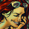 petra: Barbara Gordon smiling knowingly (Abed - Candy cane omnomnom)
