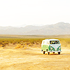 words_unravel: vw van in the desert (a desert bus)