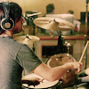 words_unravel: back pic of spencer smith drumming (drumming from the backside)