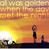 perestroika: Tidus and Yuna from Final Fantasy X with P!atD lyrics (when the day met the night)