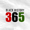 the_future_modernes: text icon black history 365,  black green and red letters against white background (black history month 2)