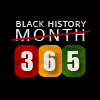 the_future_modernes: text icon: black history month (struckout) and replaced with 365 (Black history month)