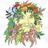 red_trillium: drawing of a 'greenman' deity  (Greenman by Wyld_dandelyon)