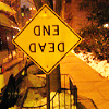 tales_from_surreality: An upside down dead end sign. (Dead End.)