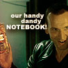 everchangingmuse: 9's shaking a bomb like Steve's handy dandy notebook (notebook)