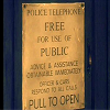 everchangingmuse: plaque on the outside of the TARDIS (TARDIS plaque)