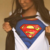 mewithme: Picture of a woman opening her shirt with a superman suit underneath. (Superwoman)