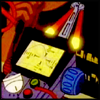 "laughingrat: Still from ""The Real Ghostbusters,"" closeup of a PKE meter with a bit of Egon's glasses at the edge of the frame. (Science)"