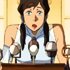 anatural: Korra is uncomfortable with public speaking (awkward surprise)