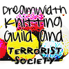 "lizcommotion: balls of yarn, text reads ""Dreamwidth Knitting Guild and Terrorist Society"" (dreamwidth knitting)"