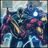 kabal42: A comic frame where Captain America is carrying an unconscious Iron Man (Comics - Avengers - Steve carries Tony)