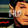 "cinco: Spock looking doubtful: ""O RLY?"" (Default)"