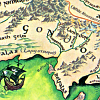 turlough: detail from map of Middle Earth, art by Pauline Baynes ((tolkien) the realm of gondor)