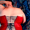st_aurafina: Beautiful fat woman in a red corset (Fat: Corset)