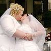 st_aurafina: Two fat brides dressed in white,  kissing. (Fat brides)