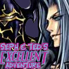 "sathari: Sephiroth and Golbez with the caption ""Seph and Ted's excellent adventure"" (Sephiroth and Golbez- Dissidia)"