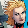 fairestcat: a close up of a blonde woman.  Someone is pointing a gun at her and she looks entirely unimpressed (Badass Carol)