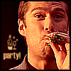 yourlibrarian: Wes is ready to party (BUF-WesleyParty-amethyst_gems)