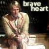 girlanachronism: The fifth doctor sitting looking scared and lost, text: brave heart (Five)