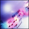 scifisentai: music notes backlight by rainbow light (rainbow notes)