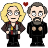 doctor_and_master: Cartoon Lumley!Master and Pryce!Master (Lumley!Doctor/Pryce!Master)
