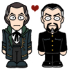 doctor_and_master: Cartoon Shalka!Doctor and Shalka!Master (Shalka!Doctor/Shalka!Master)