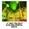 therisingsun: FFVIII, Tonberry says you die (Stabby stabby!)